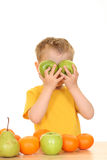 Playing with fruits Royalty Free Stock Images