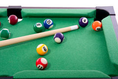 Playing a game of billiard Royalty Free Stock Photos