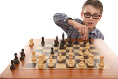 Playing a game of chess Royalty Free Stock Photo