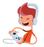 Playing the game  illustration cartoon character Royalty Free Stock Photography