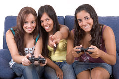 Playing games! Stock Images