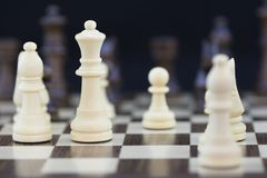 Playing Games Series: Chess Focussing on the Queen Royalty Free Stock Photography