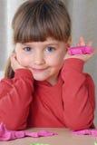 Playing girl. Royalty Free Stock Photo