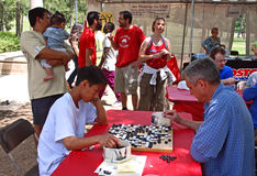 Playing Go in the park Stock Images