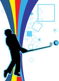 Playing Golf. An illustration of a golf player Stock Photography