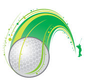 Playing golf stock illustration