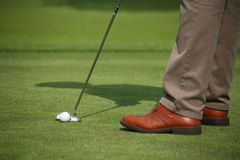 Playing golf Stock Photography