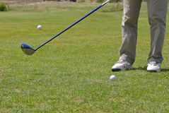 Playing golf. Golf player on the green Stock Image