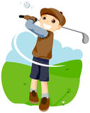 Playing Golf Stock Image