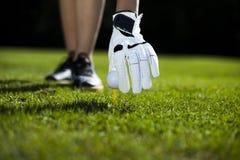 Playing golf, ball Royalty Free Stock Photos