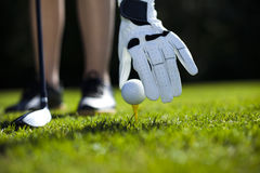 Playing golf, ball Royalty Free Stock Photo