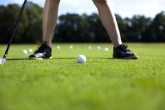 Playing golf, ball Royalty Free Stock Images