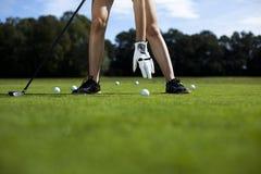 Playing golf, ball Royalty Free Stock Image