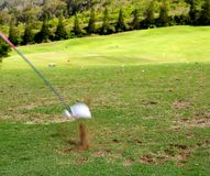 Playing golf in Hawaii Royalty Free Stock Image