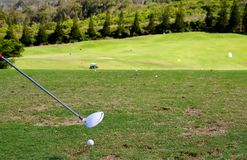 Playing golf in Hawaii Royalty Free Stock Photos