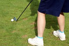 Playing golf Royalty Free Stock Photography