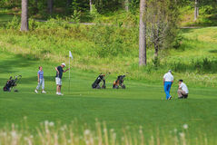 Playing golf. Stock Photo