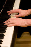 Playing Grand Piano Keyboard Royalty Free Stock Images