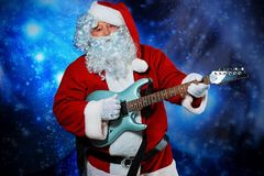 Playing a guitar royalty free stock photo