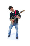 Playing a guitar ! Stock Image