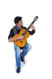 Playing a guitar ! Stock Photo