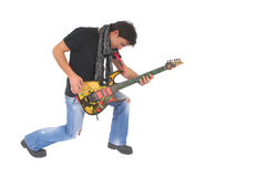 Playing a guitar ! Royalty Free Stock Images