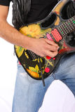 Playing a guitar ! Royalty Free Stock Photography