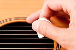 Playing guitar Stock Photography