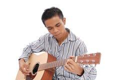 Playing the Guitar Stock Photos