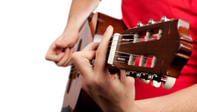 Playing the Guitar Stock Photos