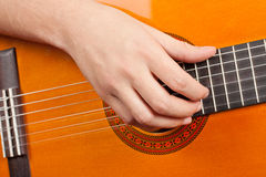 Playing the Guitar Stock Images