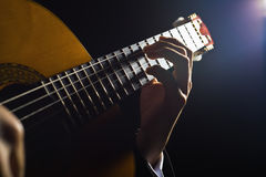 Playing the guitar Royalty Free Stock Photo