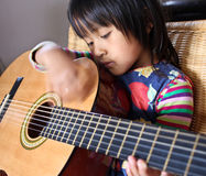Playing guitar Royalty Free Stock Photo