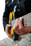 Playing the Guitar royalty free stock image
