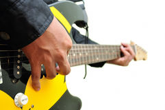 Playing the Guitar Royalty Free Stock Photos