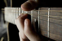 Playing the Guitar Stock Image