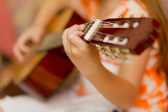 Playing guitar Royalty Free Stock Image