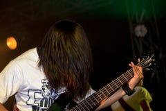 Playing guitar Royalty Free Stock Photos