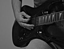 Playing guitar. Jamming and party Royalty Free Stock Image