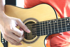Playing guitar makes your day wonderful Stock Photography
