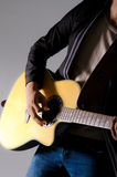 Playing guitar man. Royalty Free Stock Photography