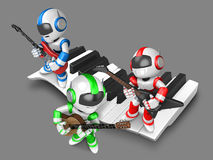 Playing the guitar is a  robots Stock Photo