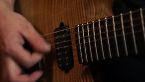 Playing guitar. stock video footage