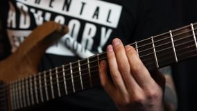 Playing guitar. stock footage