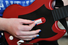 Playing Guitar Video Controller Stock Images