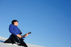 Playing guitarist Royalty Free Stock Photo
