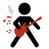 Playing the guittar Royalty Free Stock Photography