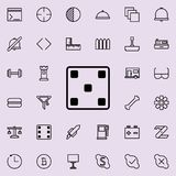 Playing halls five icon. Detailed set of minimalistic line icons. Premium graphic design. One of the collection icons for websites. Web design, mobile app on Stock Photography