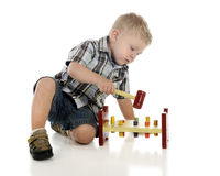 Playing with Hammer Toy Royalty Free Stock Photos