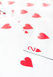 Playing heart cards Royalty Free Stock Photo